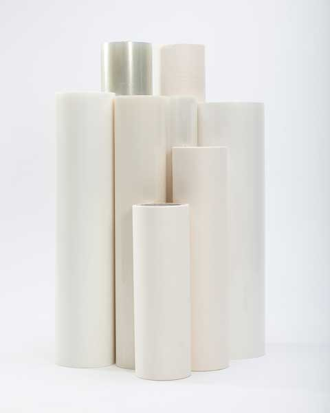 Showing a variety of transfer tape rolls