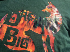 "A fox with the words ""Dream Big"" printed in Ultimate Print Soft Gloss UPSG-4031"