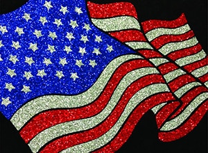 Image depicting the downloadable cut file that is an American Flag