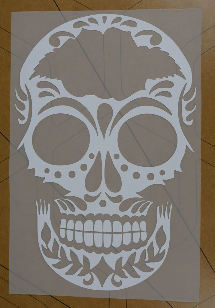 The skull layer made from LuminousFlex