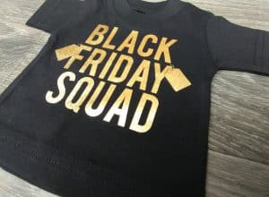 """Image depicting the downloadable cut file that says """"Black Friday Squad"""""""