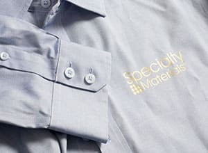 ThermoFlex Plus pressed onto a button up shirt
