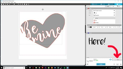 Showing how to do a test cut in Silhouette Studio