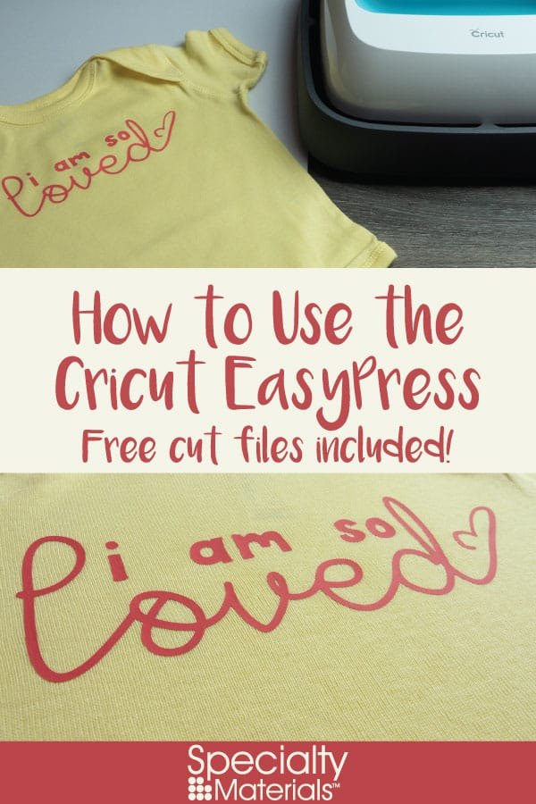 A pinable image for Pinterest for our How to Use the Cricut EasyPress blog post