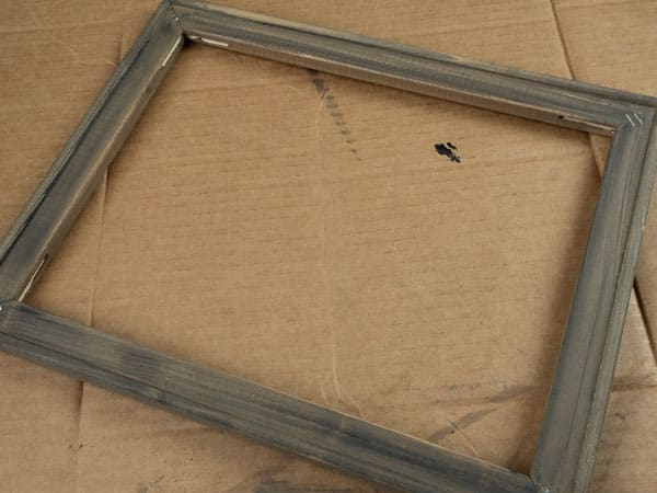 The frame stained and finished