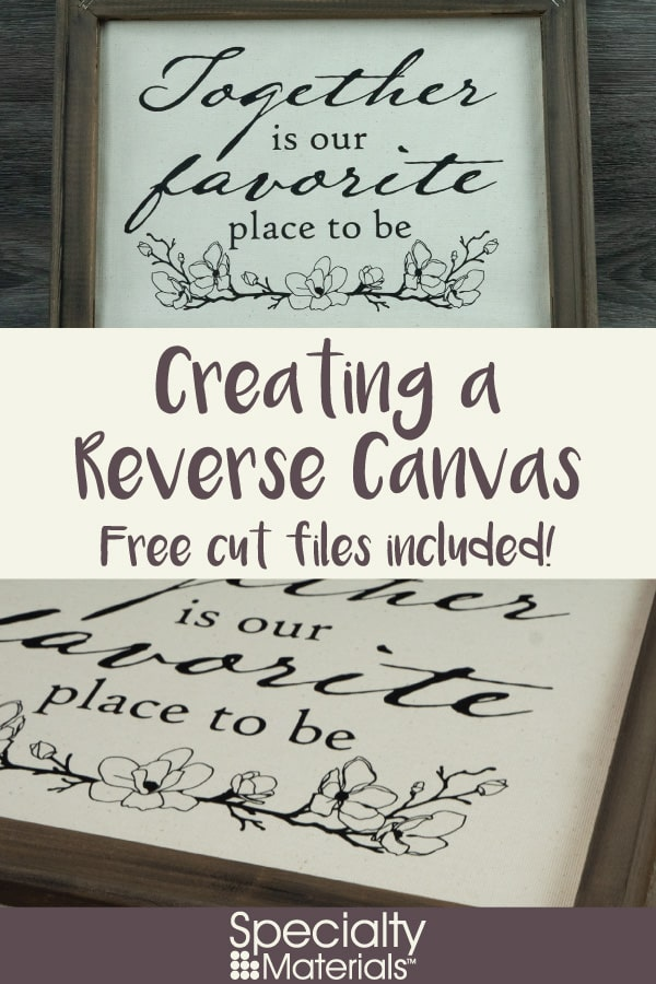 A pinable image for Pinterest for our Creating a Reverse Canvas blog post