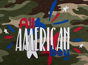 Image depicting some of the the downloadable cut file All American Boy