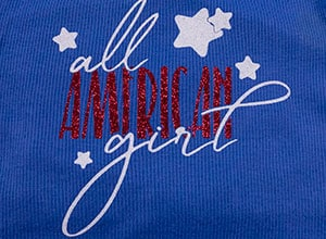 Image depicting some of the the downloadable cut file All American Girl