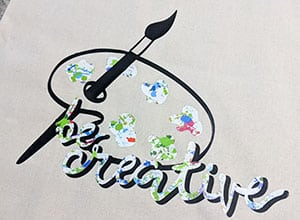 Image depicting the downloadable cut file Be Creative