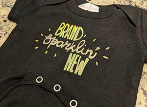 Image depicting the downloadable cut file Brand Sparklin' New