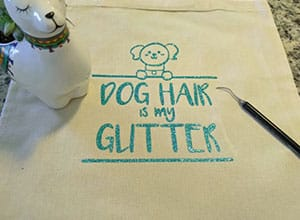Image depicting some of the the downloadable cut file Dog Hair is my Glitter