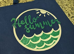 Image depicting the downloadable cut file Hello Summer